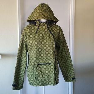 Dope Green Jacket Circular Pattern Trippy